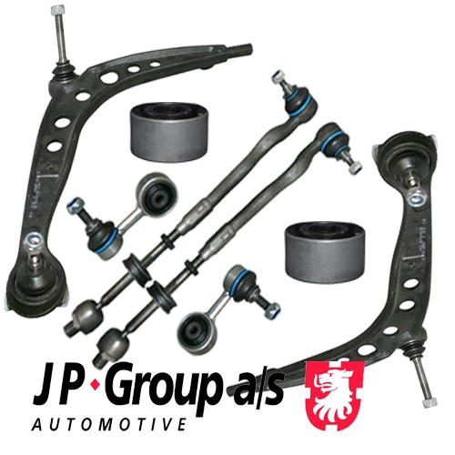 JP HQ Front Kit Control Arm Suspension Wishbone with Bushes 3 BMW E36 Saloon  8 pieces